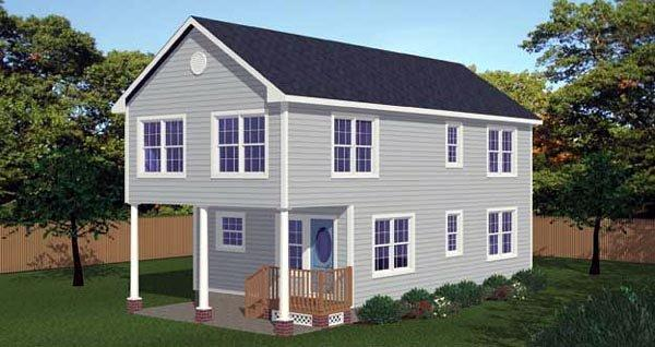 House Plan 71901 with 3 Beds, 3 Baths Elevation
