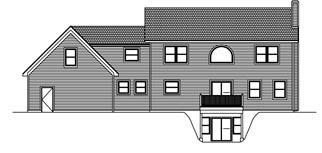 House Plan 71902 with 3 Beds, 3 Baths, 3 Car Garage Rear Elevation