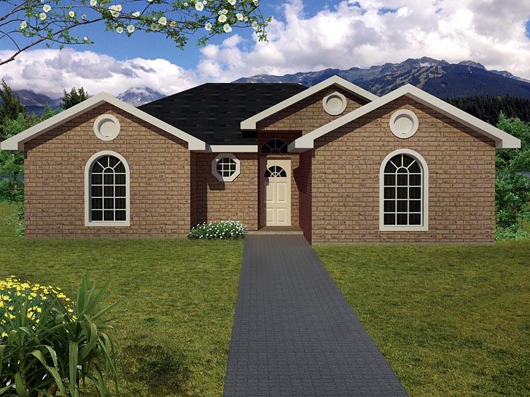 Ranch, Southwest House Plan 71921 with 3 Beds, 2 Baths Elevation