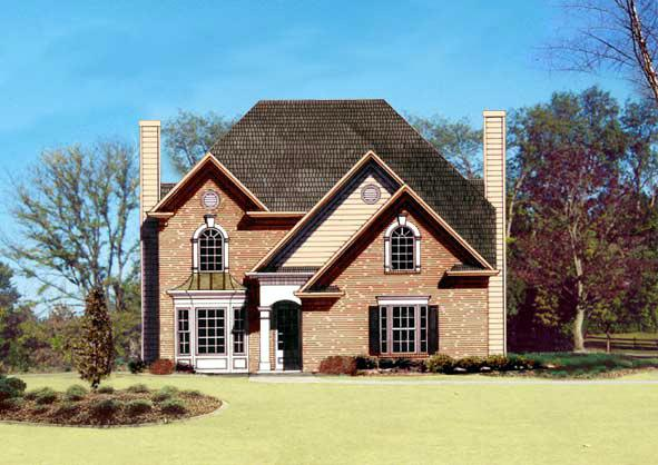 European, Traditional House Plan 72020 with 3 Beds, 3 Baths, 2 Car Garage Elevation