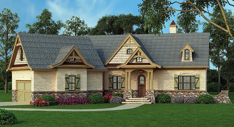 House Plan 72136 with 3 Beds, 3 Baths, 2 Car Garage Elevation
