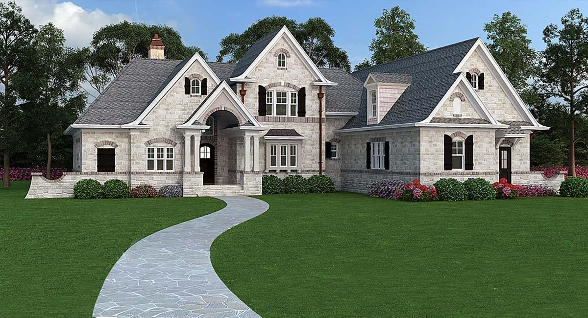 European, French Country, Traditional House Plan 72166 with 3 Beds, 2 Baths, 2 Car Garage Elevation