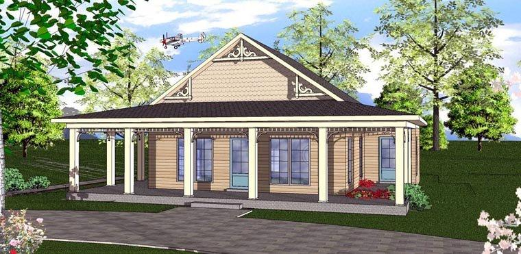Cottage, Florida, Southern House Plan 72320 with 2 Beds, 2 Baths Elevation