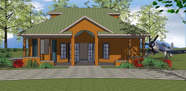 Contemporary House Plan 72377 with 1 Beds, 1 Baths Elevation