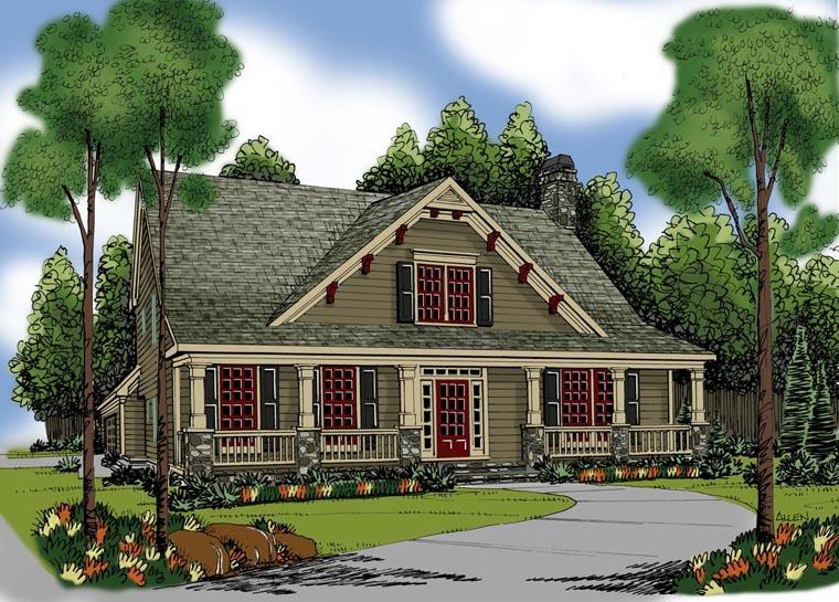 House Plan 72556 with 5 Beds, 4 Baths, 2 Car Garage Elevation