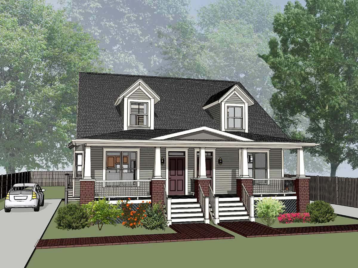 Multi-Family Plan 72790 with 6 Beds, 6 Baths Elevation
