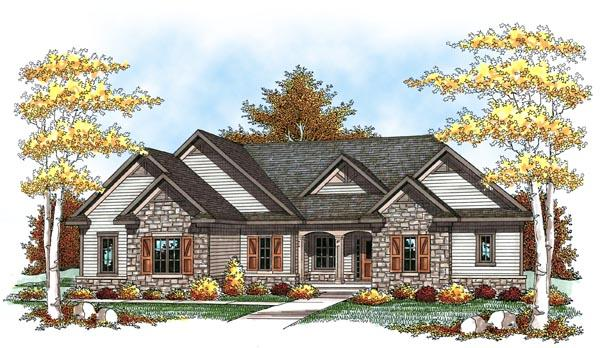 Traditional, Tudor House Plan 73448 with 3 Beds, 3 Baths, 3 Car Garage Elevation