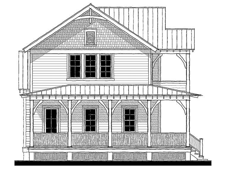 Country, Farmhouse, Southern, Traditional House Plan 73945 with 4 Beds, 4 Baths Elevation