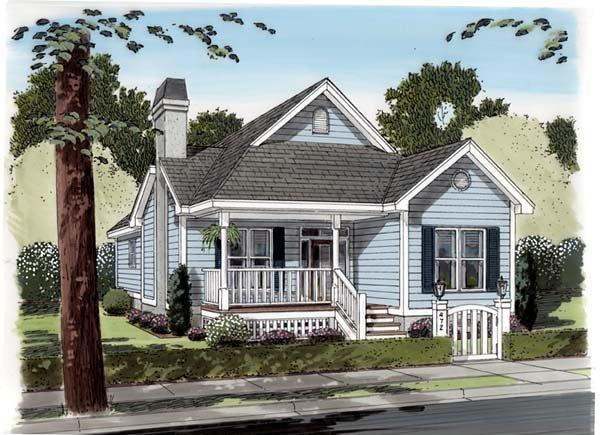 Traditional House Plan 74002 with 3 Beds, 2 Baths Elevation