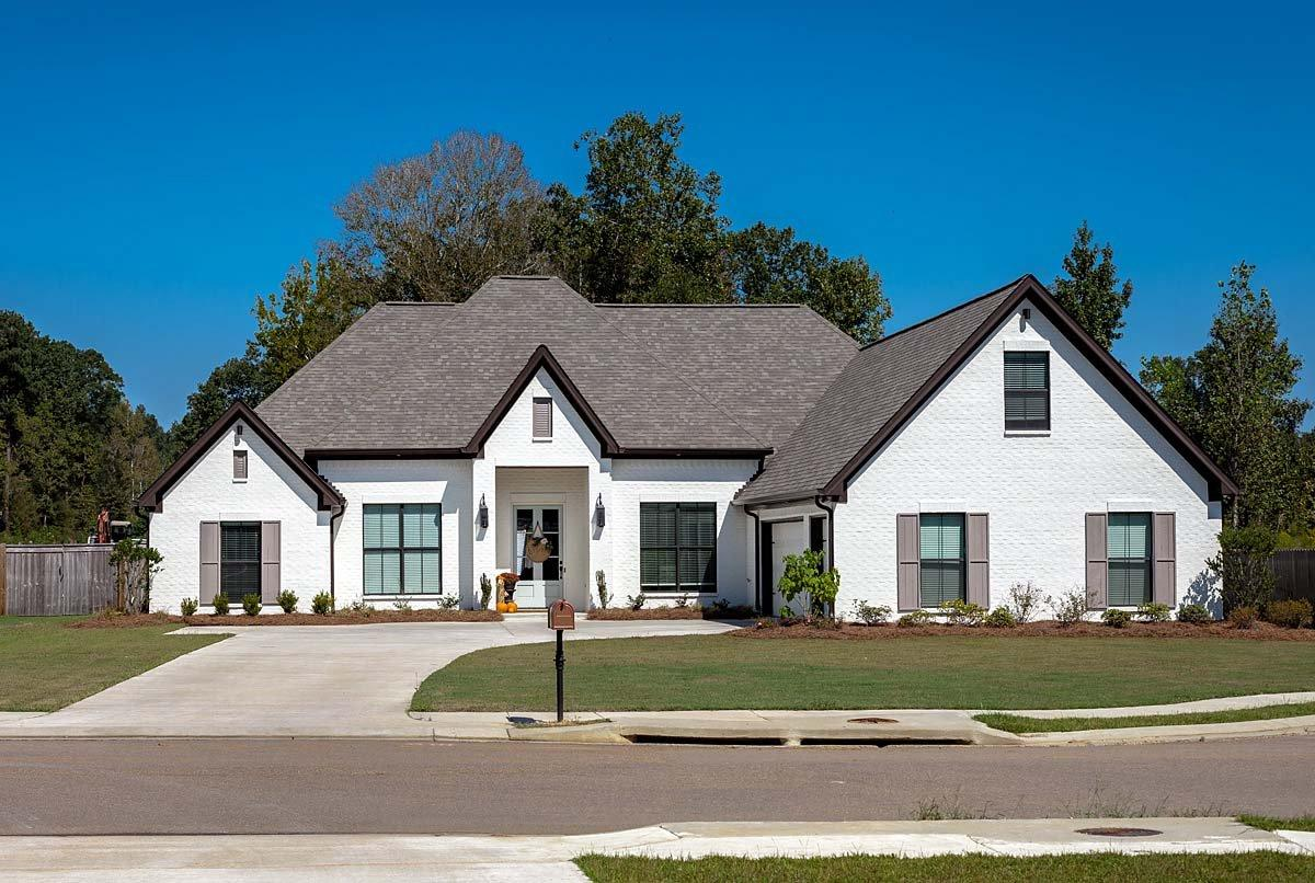 European, French Country House Plan 74640 with 4 Beds, 3 Baths, 3 Car Garage Elevation