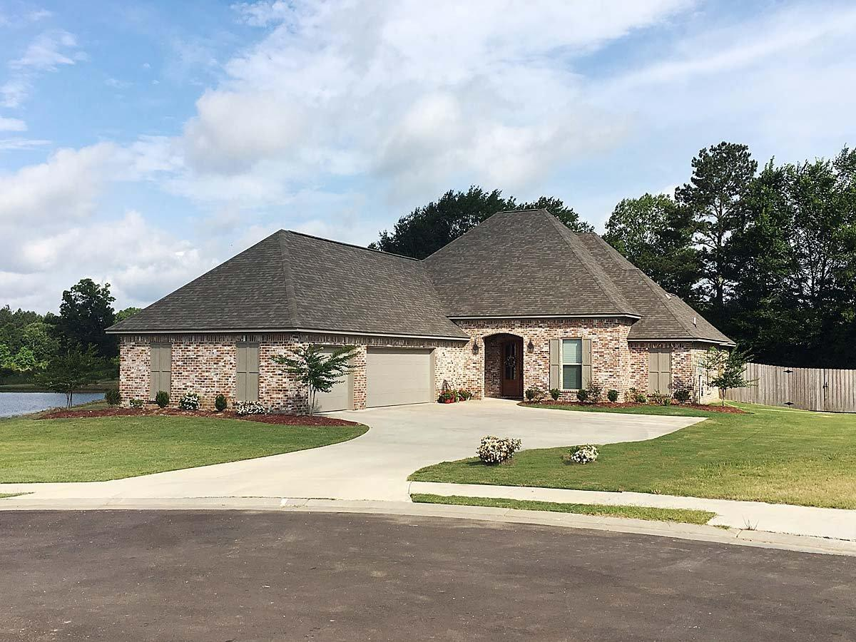 Country, French Country House Plan 74645 with 4 Beds, 3 Baths, 3 Car Garage Elevation