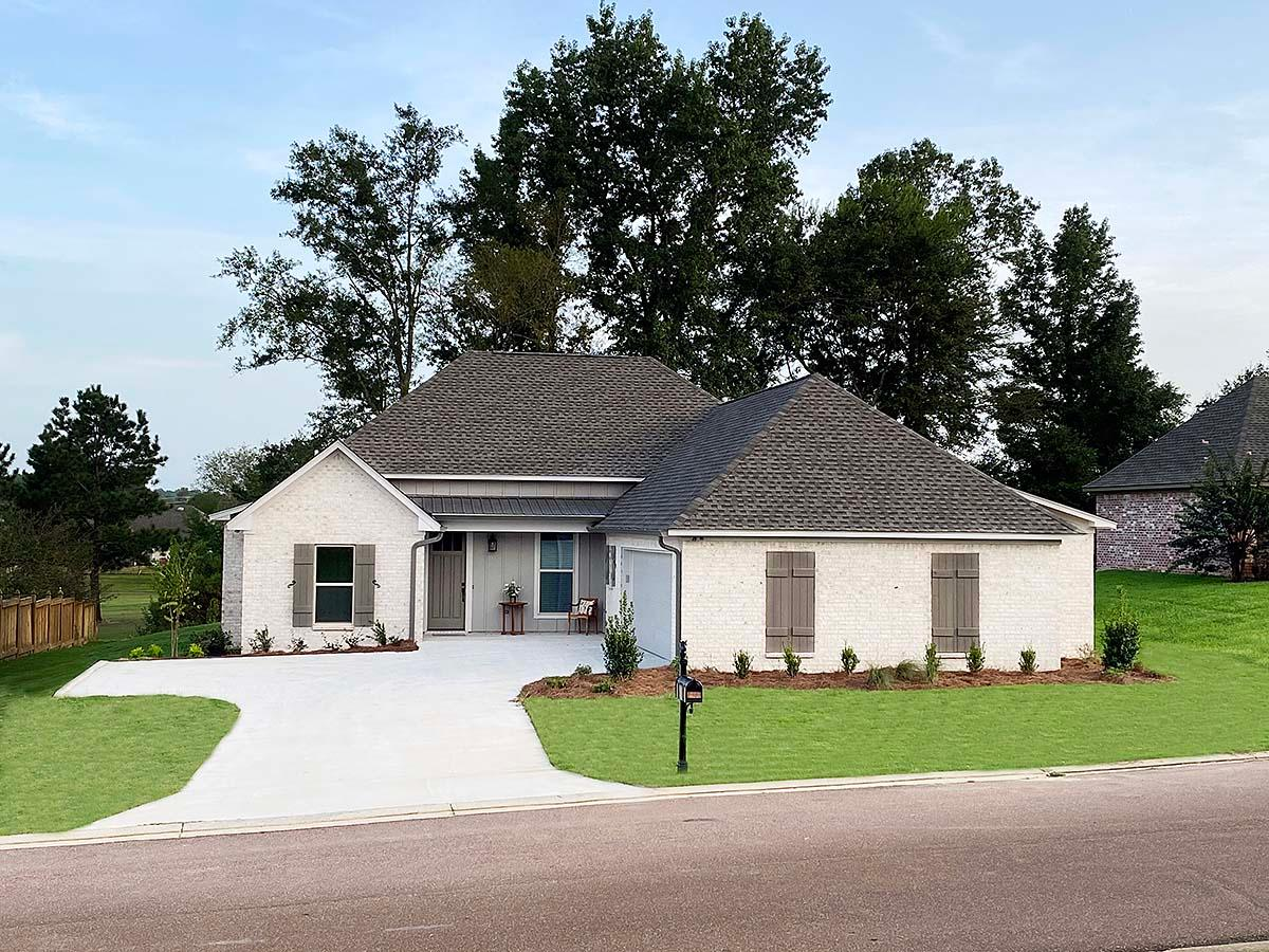 French Country, Traditional House Plan 74664 with 3 Beds, 2 Baths, 2 Car Garage Elevation