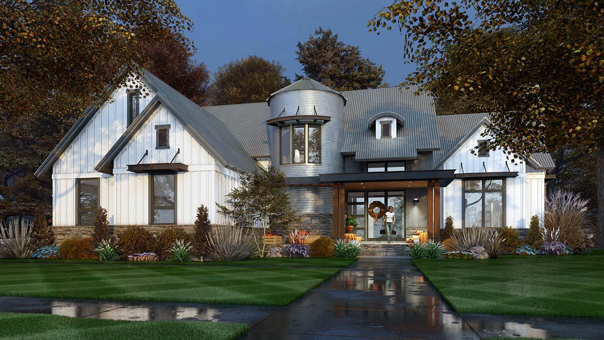 Country, Farmhouse House Plan 75165 with 3 Beds, 3 Baths, 2 Car Garage Elevation