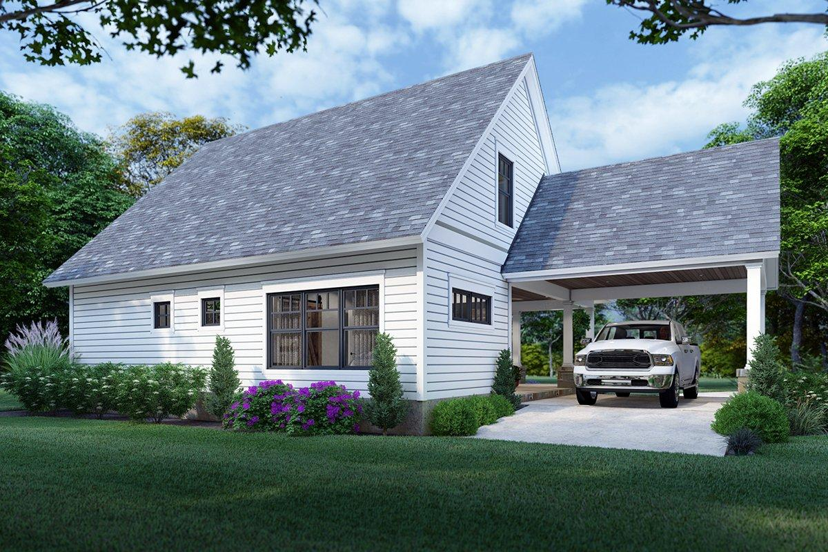 Cottage, Farmhouse House Plan 75170 with 3 Beds, 2 Baths Rear Elevation