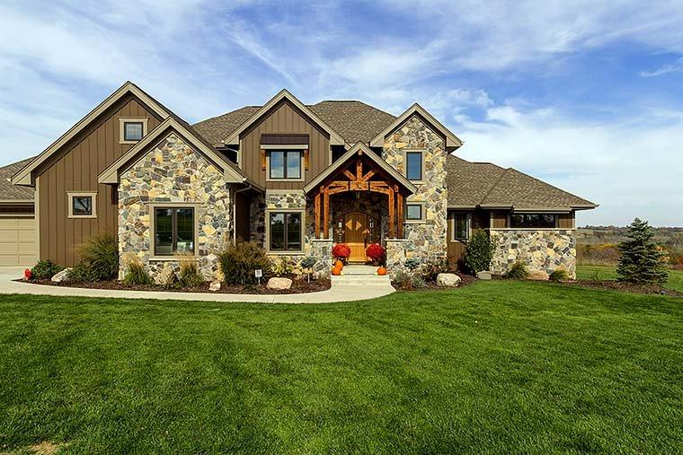 Craftsman, Traditional House Plan 75442 with 5 Beds, 5 Baths, 3 Car Garage Elevation