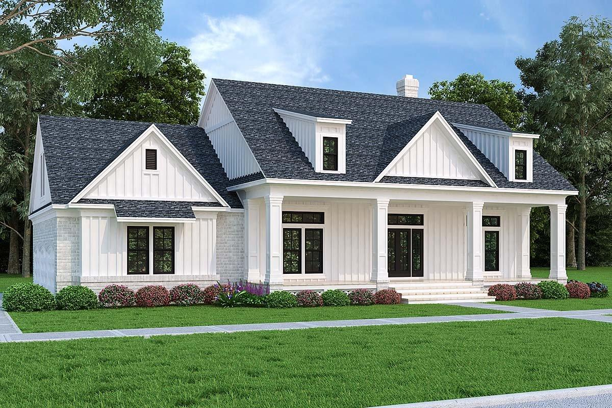 Farmhouse House Plan 76943 with 3 Beds, 2 Baths, 3 Car Garage Elevation