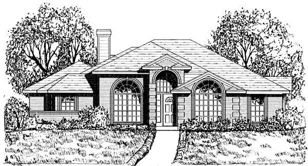 Traditional House Plan 77757 with 3 Beds, 2 Baths, 2 Car Garage Elevation