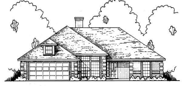 Traditional House Plan 77758 with 4 Beds, 3 Baths, 2 Car Garage Elevation
