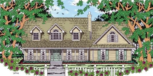 Country House Plan 79265 with 3 Beds, 3 Baths, 2 Car Garage Elevation