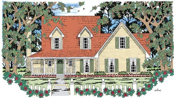 Country, Farmhouse House Plan 79267 with 3 Beds, 3 Baths, 2 Car Garage Elevation