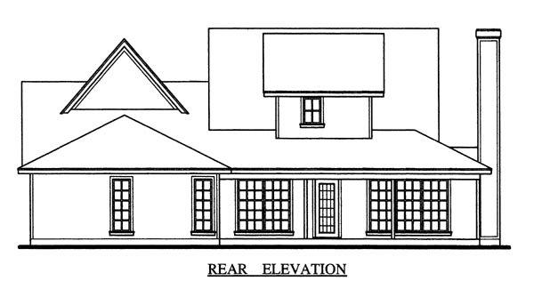 Country, Farmhouse House Plan 79267 with 3 Beds, 3 Baths, 2 Car Garage Rear Elevation