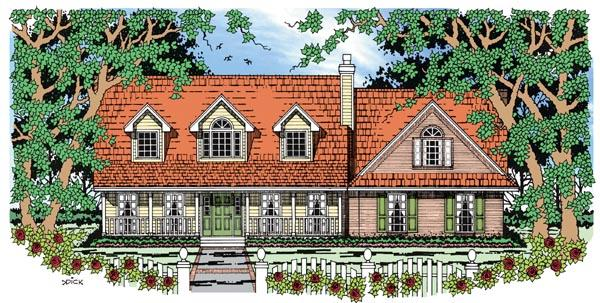 Country House Plan 79273 with 4 Beds, 3 Baths, 2 Car Garage Elevation