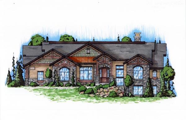 Traditional House Plan 79822 with 4 Beds, 5 Baths, 3 Car Garage Elevation