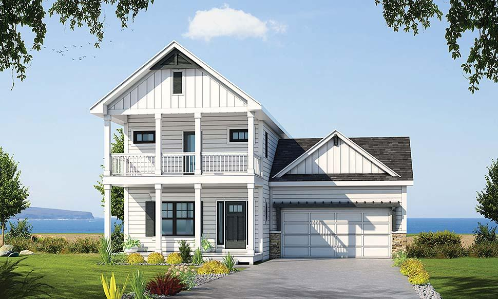 Country, Southern, Traditional House Plan 80421 with 3 Beds, 3 Baths, 2 Car Garage Elevation