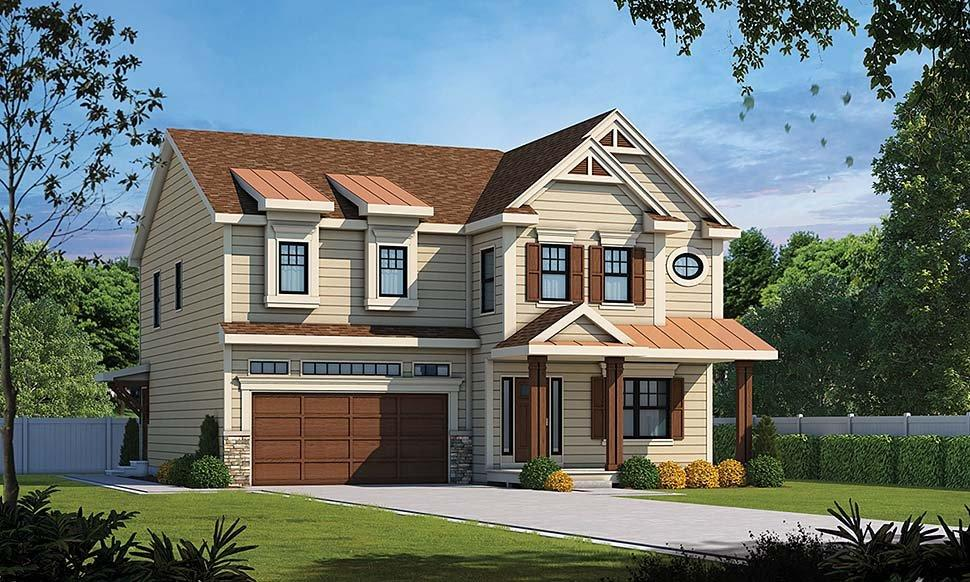 Country, Southern, Traditional House Plan 80434 with 4 Beds, 4 Baths, 2 Car Garage Elevation