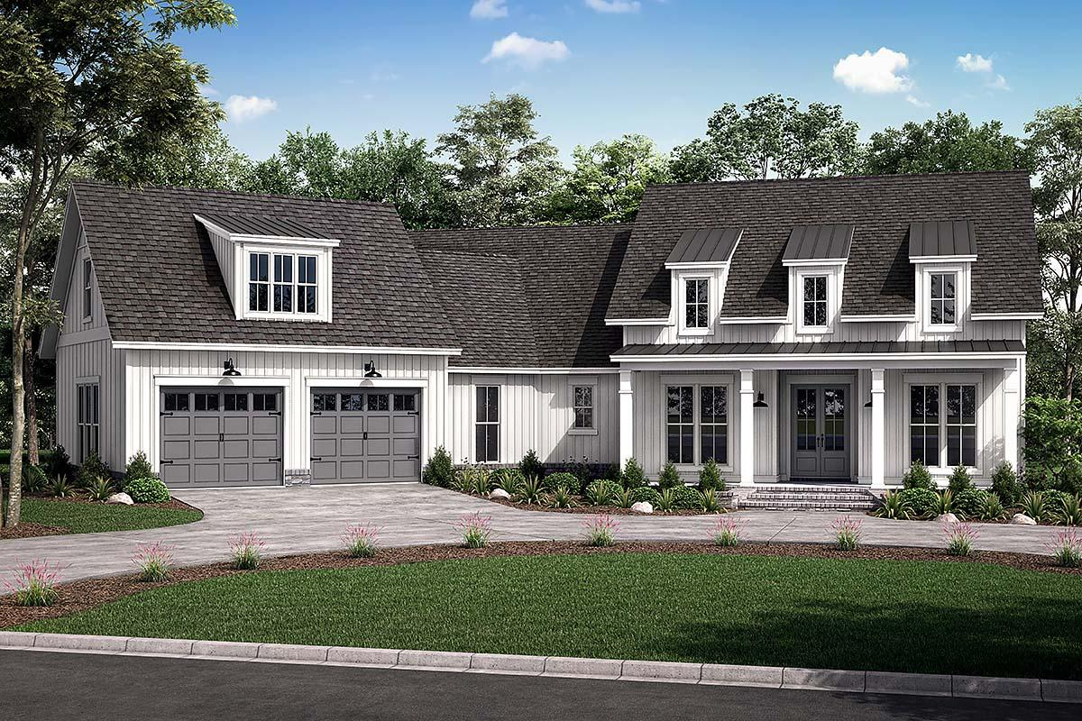 House Plan 80803 - Traditional Style with 2301 Sq Ft, 3 Bed, 2 Bath, 1 Half  Bath