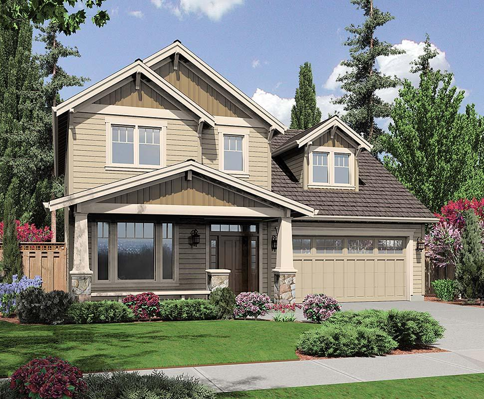 Craftsman, Traditional House Plan 81216 with 3 Beds, 3 Baths, 3 Car Garage Elevation