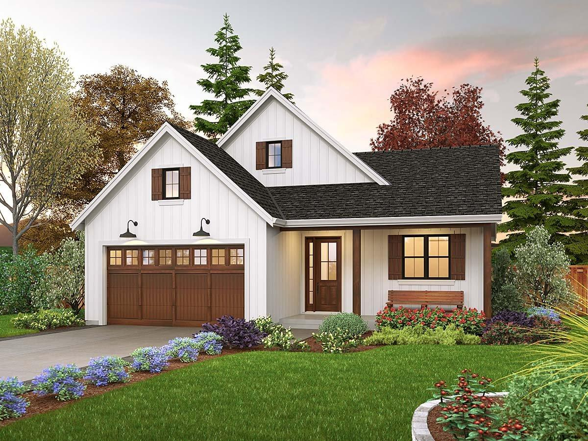 Contemporary, Farmhouse, Ranch House Plan 81310 with 3 Beds, 2 Baths, 2 Car Garage Elevation