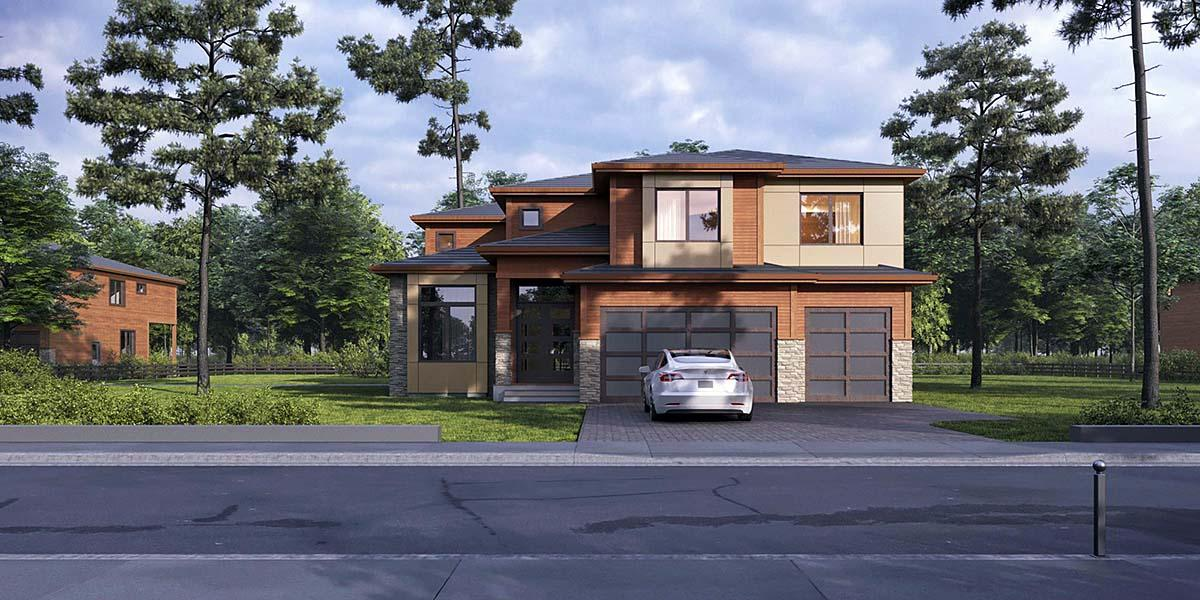 Contemporary, Modern House Plan 81936 with 4 Beds, 5 Baths, 3 Car Garage Elevation