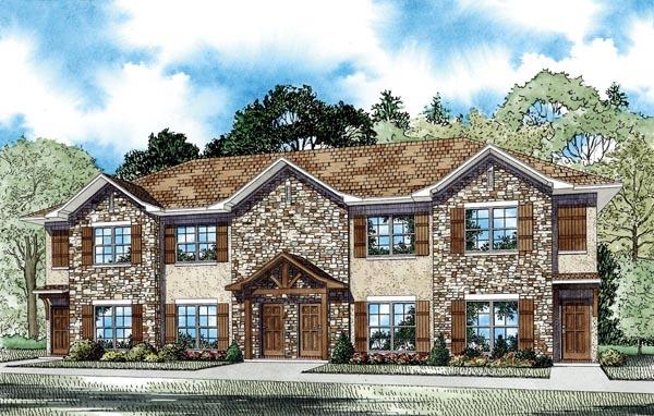 Multi-Family Plan 82288 with 8 Beds, 8 Baths Elevation