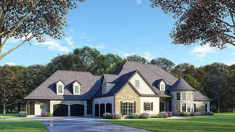 European, French Country House Plan 82488 with 6 Beds, 7 Baths, 5 Car Garage Elevation