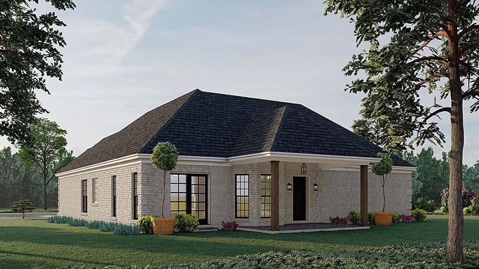 European, Traditional House Plan 82596 with 3 Beds, 2 Baths, 2 Car Garage Rear Elevation
