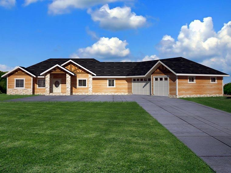 House Plan 85843 with 4 Beds, 4 Baths, 3 Car Garage Elevation