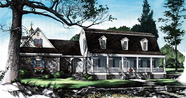 Country, Farmhouse House Plan 86165 with 4 Beds, 5 Baths, 2 Car Garage Elevation