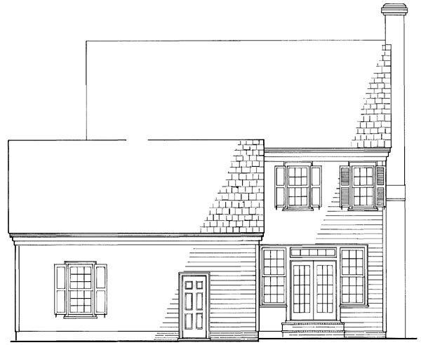 Colonial, Southern House Plan 86168 with 3 Beds, 3 Baths, 2 Car Garage Rear Elevation