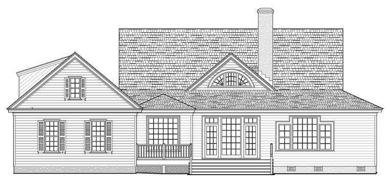 Country, Farmhouse, Traditional House Plan 86189 with 4 Beds, 3 Baths, 2 Car Garage Rear Elevation