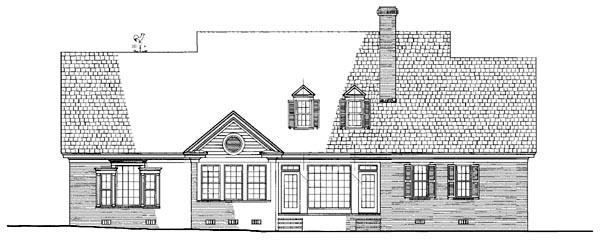 Plantation, Ranch, Traditional House Plan 86259 with 4 Beds, 5 Baths, 2 Car Garage Rear Elevation