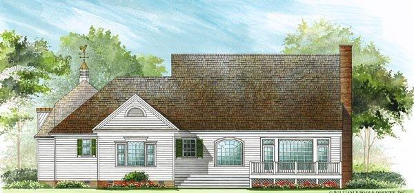 Colonial, Cottage, Country, Farmhouse, Southern House Plan 86296 with 4 Beds, 4 Baths, 2 Car Garage Rear Elevation