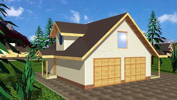 2 Car Garage Apartment Plan 86864 with 2 Beds, 2 Baths Elevation