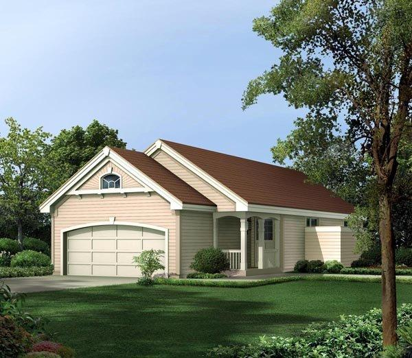 Cabin, Cottage, Ranch, Traditional House Plan 86988 with 3 Beds, 2 Baths, 2 Car Garage Elevation
