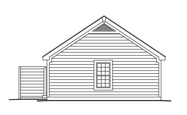 Cabin, Cottage, Ranch, Traditional House Plan 86988 with 3 Beds, 2 Baths, 2 Car Garage Rear Elevation