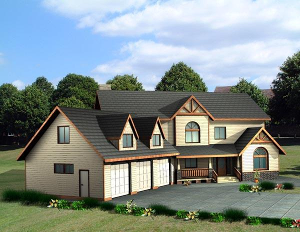 Country House Plan 87202 with 4 Beds, 4 Baths, 3 Car Garage Elevation