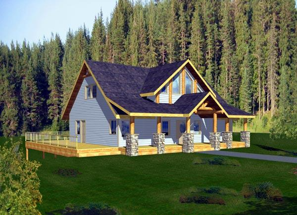 House Plan 87205 with 3 Beds, 3 Baths Elevation