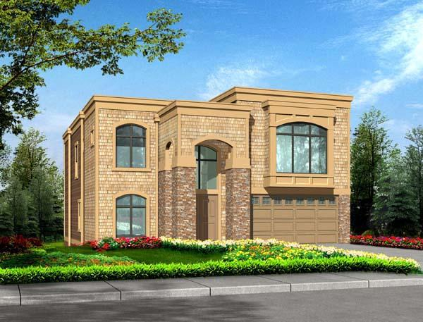 Contemporary, European House Plan 87668 with 5 Beds, 4 Baths, 3 Car Garage Elevation