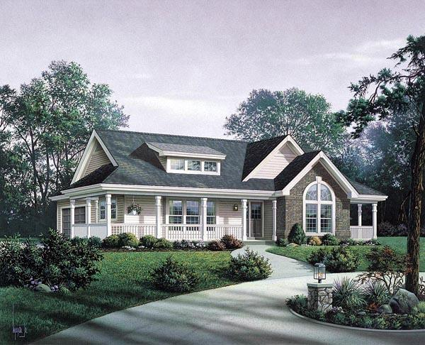 Bungalow, Country, Craftsman, Ranch House Plan 87811 with 3 Beds, 2 Baths, 2 Car Garage Elevation
