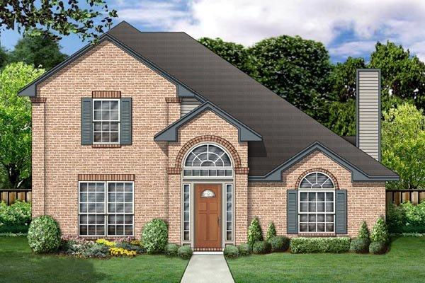 Traditional House Plan 88632 with 4 Beds, 3 Baths, 2 Car Garage Elevation